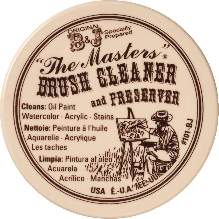 GENERAL PENCIL THE MASTERS BRUSH CLEANER AND PRESERVER 4.5OZ    GEN-101-BJ