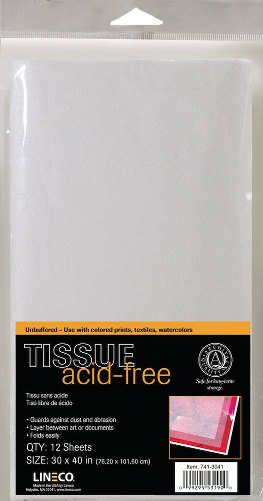 LINECO LINECO ACID FREE TISSUE PAPER 30X40 12/PK    741-3041