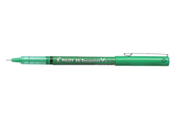 PILOT PILOT HI-TECPOINT V5 ROLLER BALL PEN EXTRA FINE 0.5MM GREEN