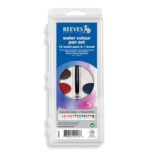 REEVES REEVES WATERCOLOUR OVAL PAN SET/16    8490920