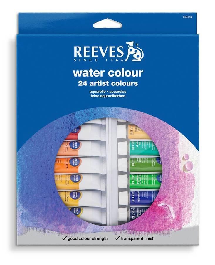 REEVES REEVES WATERCOLOUR TUBE SET/24 10ML    8493265