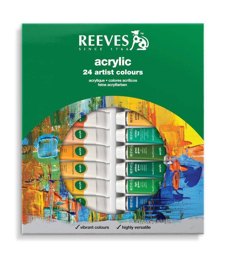 REEVES REEVES ACRYLIC TUBE SET/24 10ML   8394211