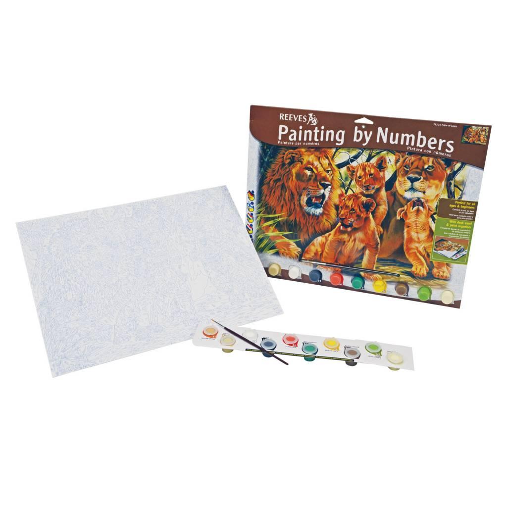 REEVES REEVES PAINTING BY NUMBERS PRIDE OF LIONS