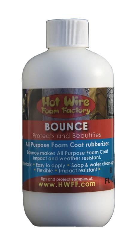 HOT WIRE FOAM FACTORY HOT WIRE BOUNCE RUBBERIZER 8OZ