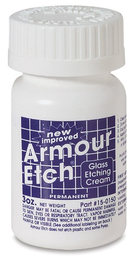 ARMOUR PRODUCTS ARMOUR ETCH GLASS ETCHING CREAM 3OZ