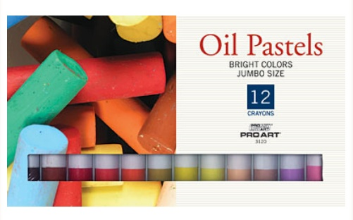 PRO ART PRO ART JUMBO OIL PASTEL SET/12