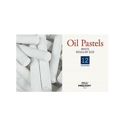 PRO ART PRO ART OIL PASTEL WHITE 12/PK