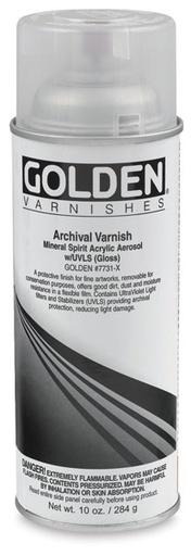GOLDEN GOLDEN MSA ARCHIVAL SPRAY VARNISH SATIN UVLS 12OZ    17736