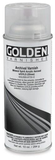 GOLDEN GOLDEN MSA ARCHIVAL SPRAY VARNISH MATTE 12OZ    17741