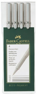 FABER CASTELL ECCO PIGMENT LINER SET/4  (0.1/0.3/0.5/0.7)