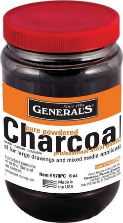 GENERAL PENCIL GENERAL'S POWDERED CHARCOAL 6OZ - DISC