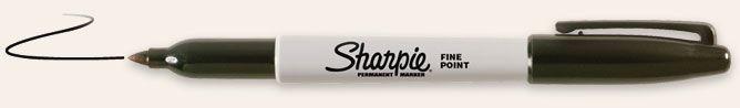 SANFORD SHARPIE FINE POINT BLACK