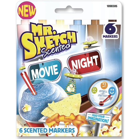 SANFORD MR. SKETCH SCENTED MARKERS MOVIE NIGHT SET/6