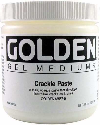 GOLDEN GOLDEN CRACKLE PASTE 32OZ