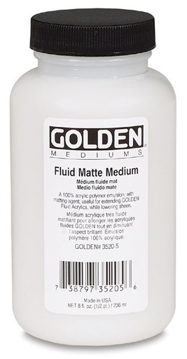 GOLDEN GOLDEN FLUID MATTE MEDIUM 128OZ