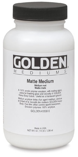 GOLDEN GOLDEN MATTE MEDIUM 16OZ