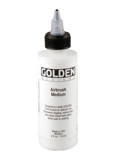 GOLDEN GOLDEN AIRBRUSH MEDIUM 4OZ