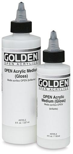 GOLDEN GOLDEN OPEN ACRYLIC MEDIUM GLOSS 8OZ