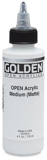 GOLDEN GOLDEN OPEN ACRYLIC MEDIUM MATTE 8OZ
