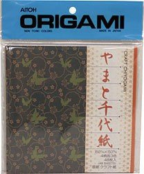 "AITOH AITOH ORIGAMI PAPER CRAFT PRINT CHIYOGAMI 5 7/8"" 48/PK"
