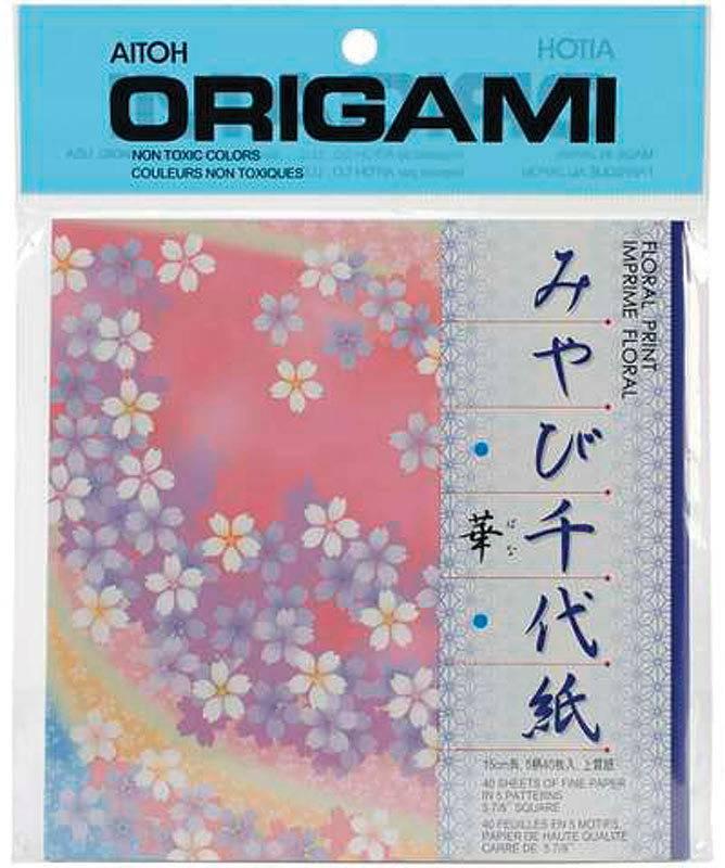 AITOH AITOH FLORAL ORIGAMI PAPER 5 PATTERNS 48/PK    FLC200