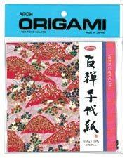 "AITOH AITOH ORIGAMI PAPER FLORAL METALLIC CHIYOGAMI 5 7/8"" 8/PK"