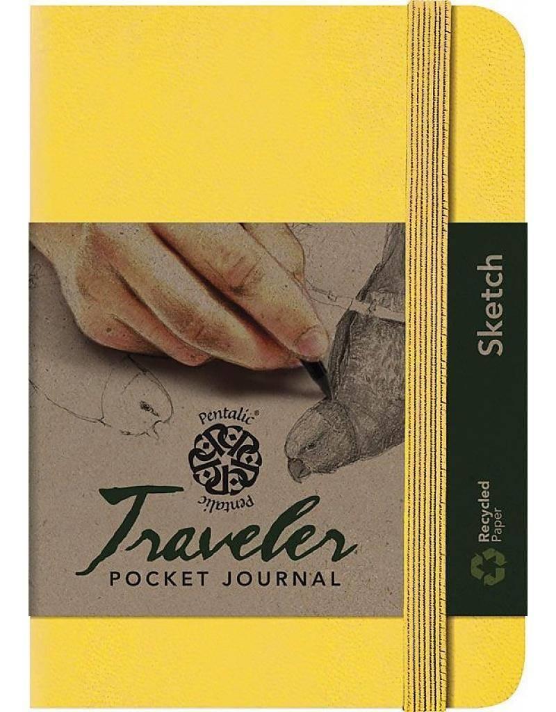 PENTALIC PENTALIC TRAVELER POCKET JOURNAL SKETCH 6X4 YELLOW GOLD