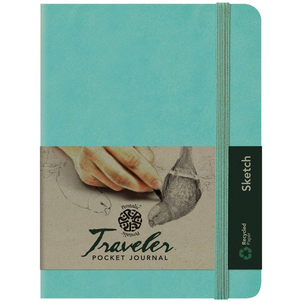 PENTALIC PENTALIC TRAVELER POCKET JOURNAL SKETCH 6X4 TURQUOISE
