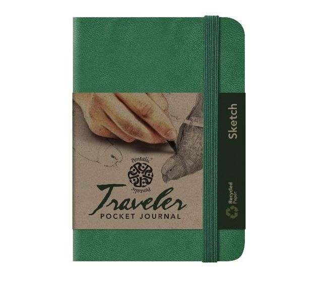 PENTALIC PENTALIC TRAVELER POCKET JOURNAL SKETCH 6X4 GREEN