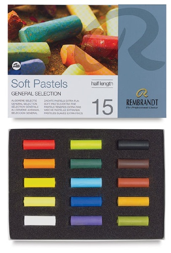 ROYAL TALENS REMBRANDT SOFT PASTEL 15 HALF STICKS