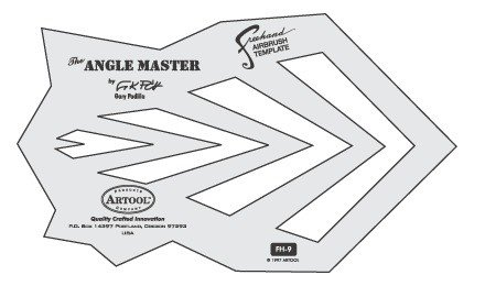 ARTOOLPRODUCTS ARTOOL FREEHAND AIRBRUSH TEMPLATE FH9 THE ANGLE MASTER