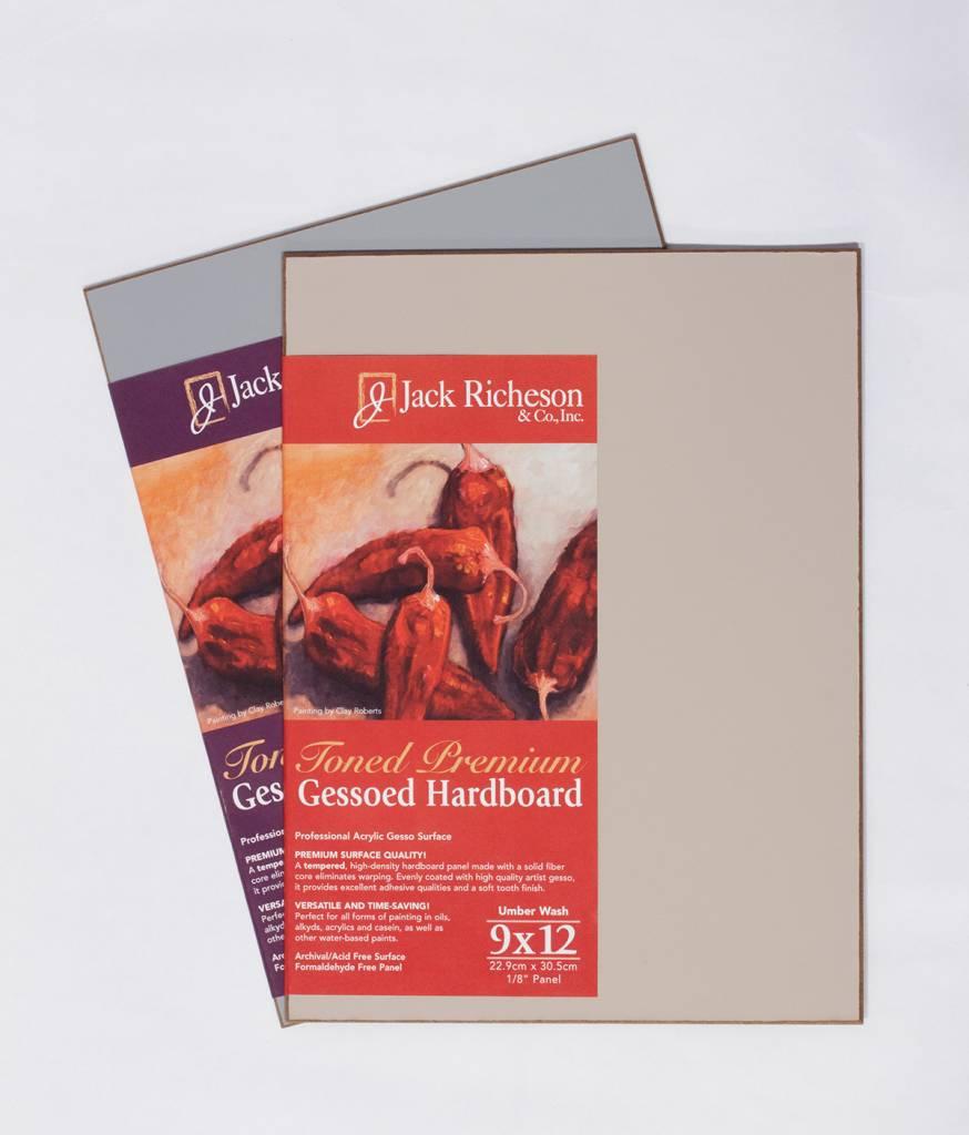JACK RICHESON RICHESON GESSOED HARDBOARD 12X12 UMBER WASH
