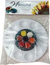 ART ADVANTAGE ART ADVANTAGE COMPACT WATERCOLOR PAINT WITH PALETTE 12 COLOR SET