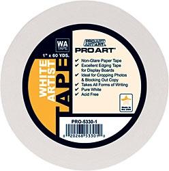 PRO ART ART ALTERNATIVES ARTIST TAPE ACID FREE WHITE 3/4''X60YD