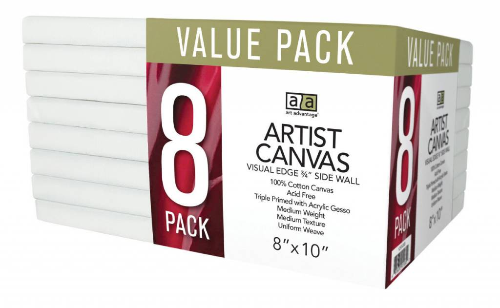ART ADVANTAGE ART ADVANTAGE STRETCHED CANVAS BULK 9X12 6/PK