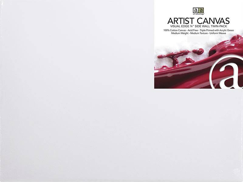 ART ADVANTAGE ART ADVANTAGE STRETCHED CANVAS 11X14 2/PK    SALE PRICE
