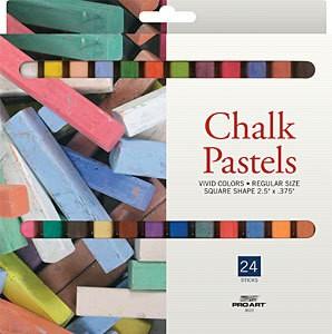PRO ART PRO ART CHALK PASTEL SET/24   3022