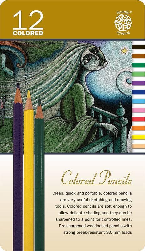 PENTALIC PENTALIC COLOURED PENCIL SET/12