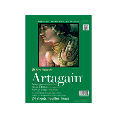 STRATHMORE STRATHMORE ARTAGAIN PAD 9X12 ASSORTED  60LB 24/SHT    445-9