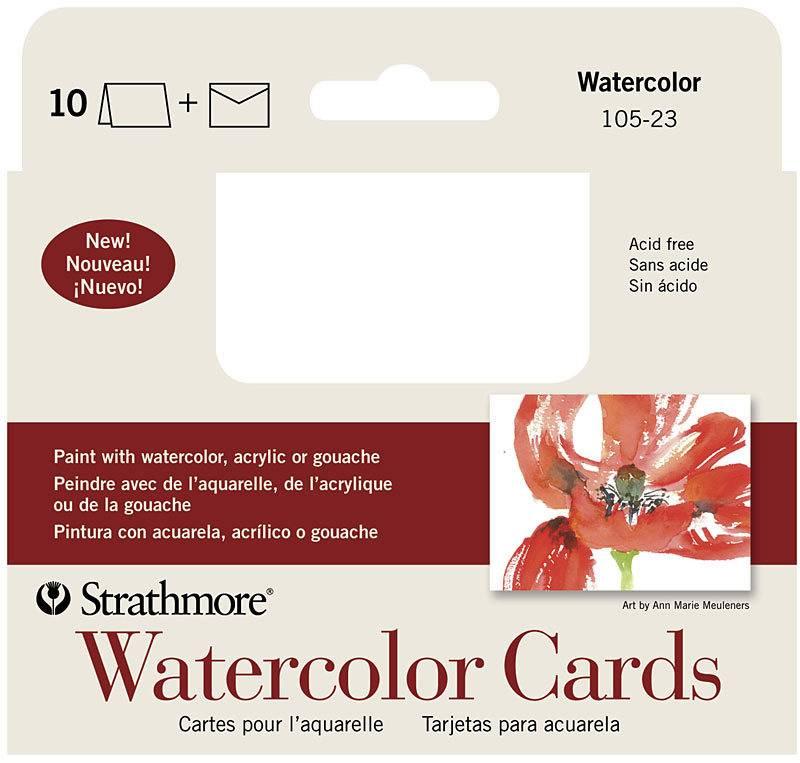STRATHMORE STRATHMORE WATERCOLOUR CARDS 3X4   105-23