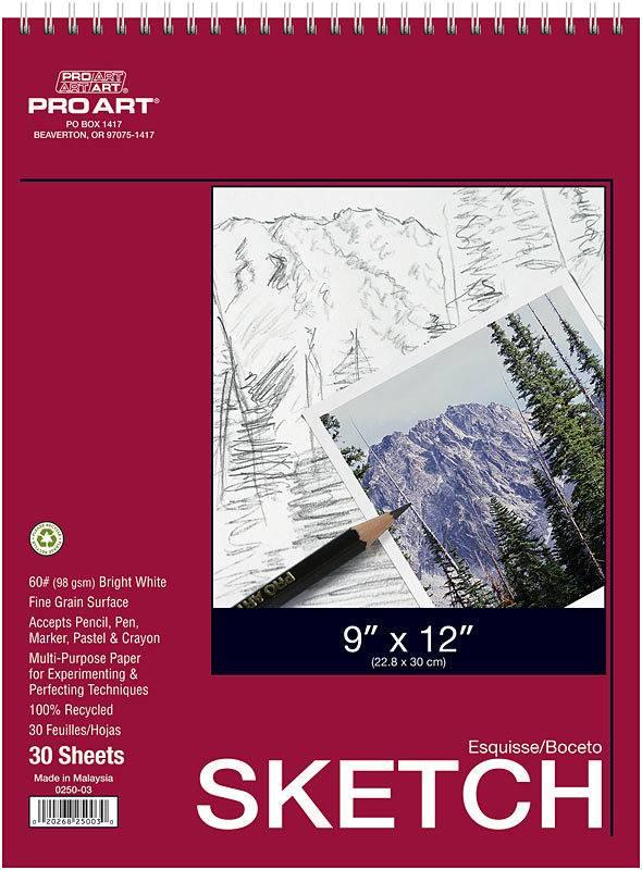 PRO ART PRO ART SKETCH PAD 9X12 30SHT  0250-03