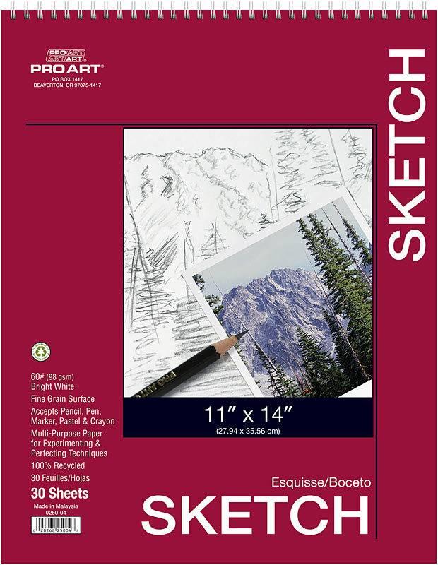 PRO ART PRO ART SKETCH PAD 11X14 60LB  30/SHT    PRO-0250-04