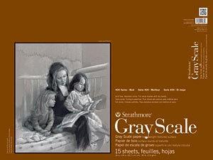 STRATHMORE STRATHMORE GRAY SCALE PAD 18X24 15 SHT