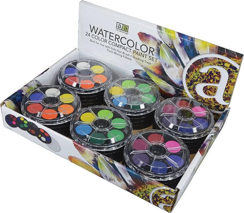 ART ADVANTAGE ART ADVANTAGE WATERCOLOUR COMPACT SET/24