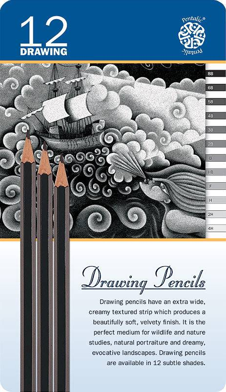 PENTALIC PENTALIC DRAWING PENCIL SET/12
