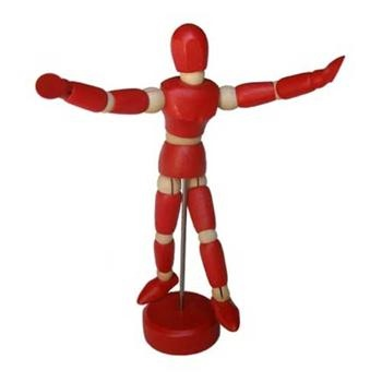 ART ADVANTAGE MALE MANNEQUIN RED 4.5''