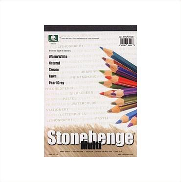 STONEHENGE PAD MULTI COLOUR 9X12 90LB  15/SHT