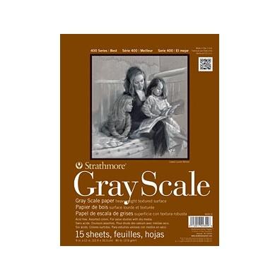 STRATHMORE STRATHMORE GRAY SCALE PAD 12X18 15 SHT