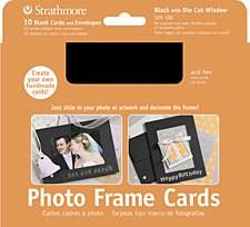 STRATHMORE STRATHMORE PHOTO FRAME CARDS BLACK 10/PK