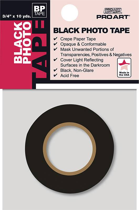 "PRO ART PRO ART PHOTO TAPE ACID FREE BLACK 3/4"" X 10 YDS"